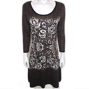 {nine west} long sleeve sweater dress